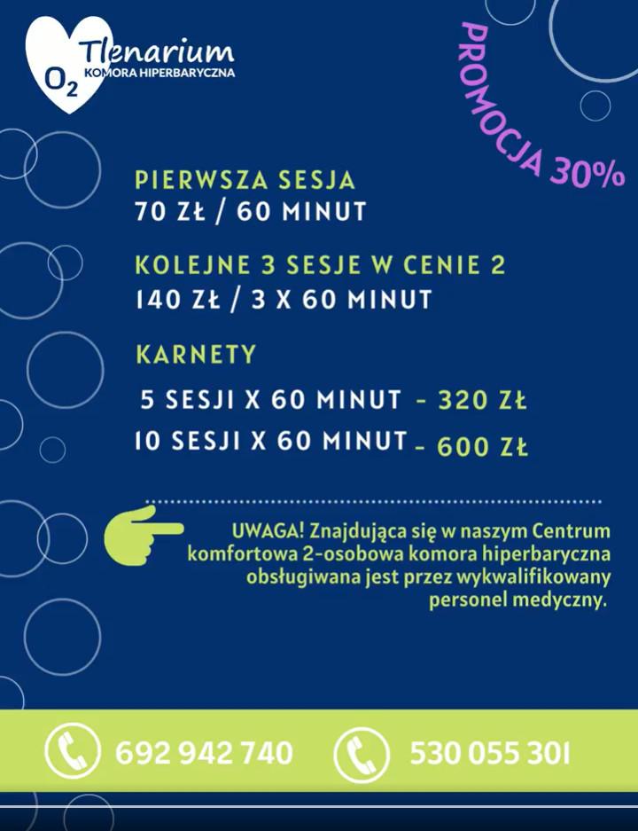 promocja na terapię tlenową w Słupsku